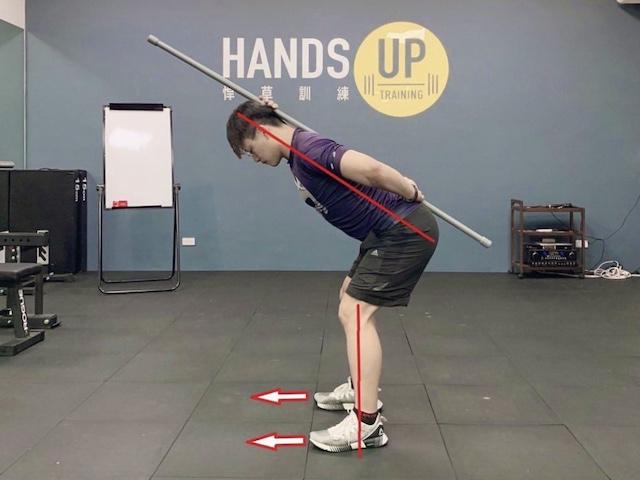 Eddie教練示範寬腳鍊